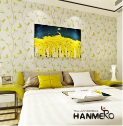 HANMERO Rural Style Birch Tree Wallpaper Green & White