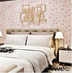 HANMERO Vines Pattern Relief Vinyl Wallpaper Rolls Purple
