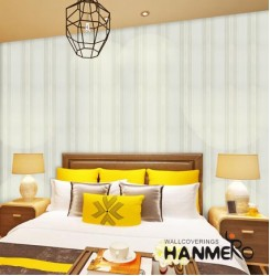 HANMERO Modern Striped Non Woven Wallpaper For Entertainment