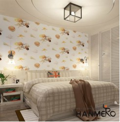 HANMERO Cute 3D Shell Starfish Conch Pattern Removable Non-woven Wallpaper