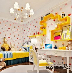 HANMERO Sweet Cream Cakes Wave Point Decoration Embossing Non-woven Fabrics Wall...