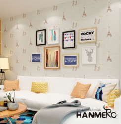 HANMERO Romantic Tower Bridge Embssing Non-woven Fabrics Wallpaper