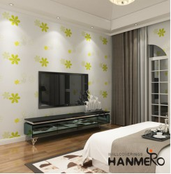 HANMERO Cute Floral Pattern Imported Non-woven Fabrics Wallpaper