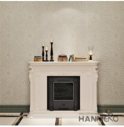 HANMERO European Style Embossing PVC Wallpaper White Home Decor