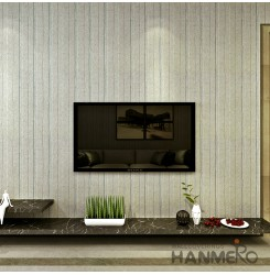 HANMERO Modern Style Embossing PVC Wallpaper Gray Home Decor