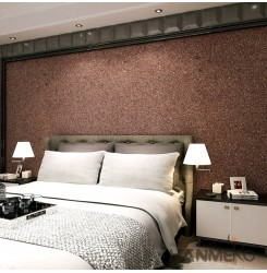 HANMERO European Style Embossing PVC Wallpaper Brown Home Decor