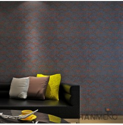 HANMERO Modern Embossing PVC Wallpaper Black Home Decor