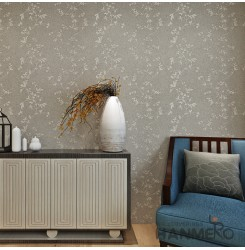 HANMERO Modern Embossing PVC Wallpaper Gray Home Decor