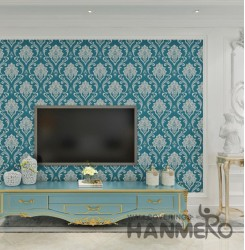 HANMERO European Floral Embossed Vinyl Wall Paper Murals 0.53*10M/roll Home Deco...
