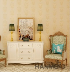 HANMERO European Gold Embossed Vinyl Wall Paper Murals 0.53*10M/roll Home Decor