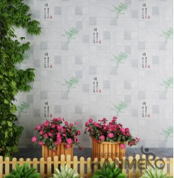 HANMERO Chinese Gray Embossed Vinyl Wall Paper Murals 0.53*10M/roll Home Decor