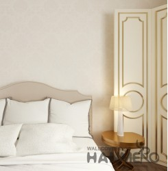 HANMERO European Pale yellow Embossed Vinyl Wall Paper Murals 0.53*10M/roll Home...