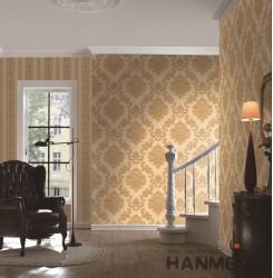 HANMERO European Gold Embossed Vinyl Wall Paper Murals 0.53*10M/roll Home Decor