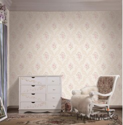 HANMERO European Pink Embossed Vinyl Wall Paper Murals 0.53*10M/roll Home Decor