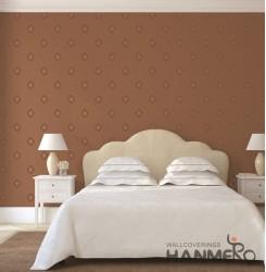 HANMERO European Brown Embossed Vinyl Wall Paper Murals 0.53*10M/roll Home Decor