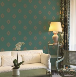 HANMERO European  Green Embossed Vinyl Wall Paper Murals 0.53*10M/roll Home Deco...