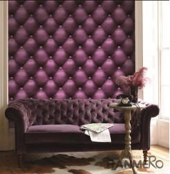 HANMERO 3D Sofa Purple Embossed Vinyl Wall Paper Murals 0.53*10M/roll Home Decor