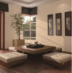 HANMERO Modern Solid Color Embossed Vinyl Wall Paper Murals 0.53*10M/roll Home D...