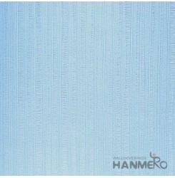 HANMERO Modern Solid Blue Color PVC Interior Wallpaper Decorative Embossed