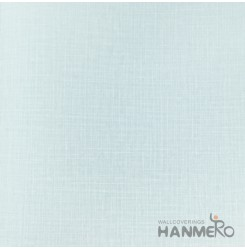 HANMERO Modern Solid Blue Color PVC Interior Wallpaper Decorative Embossed