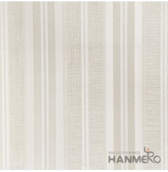 HANMERO Modern Stripes Beige Color PVC Interior Wallpaper Decorative Embossed