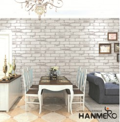 HANMERO 3D Modern Embossing PVC Wallpaper 20.86*393inches Gray Home Decor