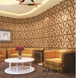 HANMERO 3D Modern Embossing PVC Wallpaper 20.86*393inches Yellow Home Decor