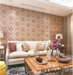 HANMERO Wall Decoration European PVC Foam Floral Brown Room Interior Wallpaper