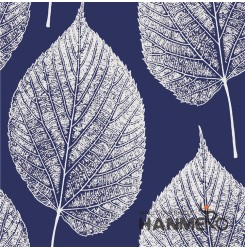 HANMERO 3D Natural Embossing PVC Wallpaper 20.86*393inches Blue Home Decor