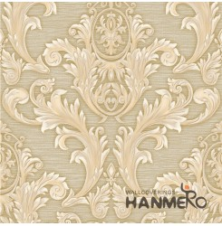 HANMERO Wall Decoration European PVC Foam Floral Beige Room Interior Wallpaper