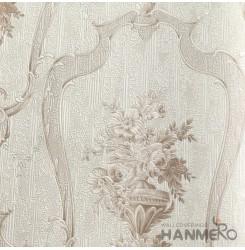 HANMERO European Deep Embossed PVC Cream Floral Wallpaper 580g 0.53*10M/Roll