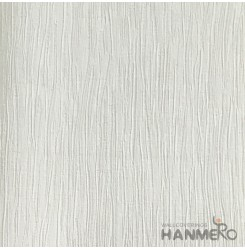HANMERO European Deep Embossed PVC Cream Solid Wallpaper 580g 0.53*10M/Roll