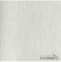 HANMERO European Deep Embossed PVC Cream Solid Wallpaper 580g 0.53*10M/Roll