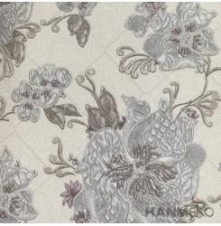 HANMERO European Deep Embossed PVC Grey Floral Wallpaper 580g 0.53*10M/Roll