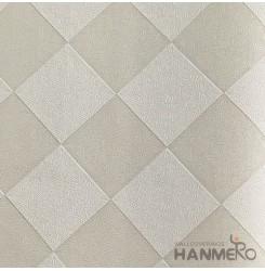 HANMERO Modern Deep Embossed PVC Cream Plaids Wallpaper 580g 0.53*10M/Roll