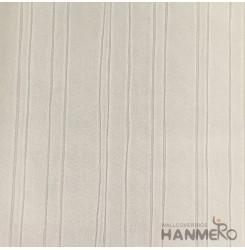 HANMERO European Deep Embossed PVC Cream Stripes Wallpaper 580g 0.53*10M/Roll