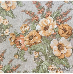 HANMERO Pastoral Deep Embossed PVC Multicolor Floral Wallpaper 580g 0.53*10M/Rol...