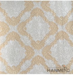 HANMERO European Deep Embossed PVC Glod Floral Wallpaper 580g 0.53*10M/Roll