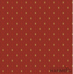 HANMERO Embossed Modern Geometric Red PVC Wallpaper For Home Interior Decoration