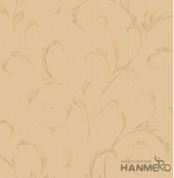 HANMERO Embossed Pastoral Floral Brown PVC Wallpaper For Home Interior Decoratio...