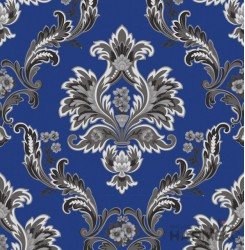 HANMERO Embossed European Floral Blue PVC Wallpaper For Home Interior Decoration