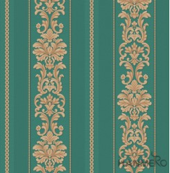 HANMERO Embossed European Floral Green PVC Wallpaper For Home Interior Decoratio...