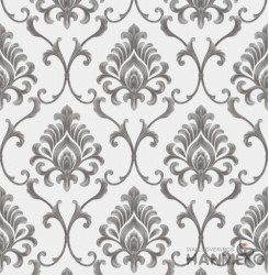 HANMERO Embossed European Floral Grey PVC Wallpaper For Home Interior Decoration