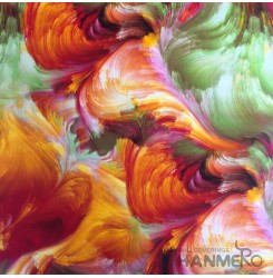 HANMERO New 3D PVC Foaming Modern Abstract Oil Painting Wallpaper 0.53*10M/Roll ...