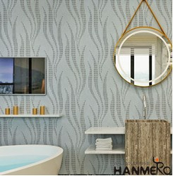HANMERO Modern Grey Printed PVC Waterproof MCM Wallpaper 0.686*10M/roll Home Dé...