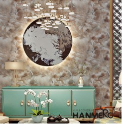 HANMERO Modern Brown Printed PVC Waterproof MCM Wallpaper 0.686*10M-roll Home De...
