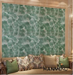 HANMERO Modern Green Printed PVC Waterproof MCM Wallpaper 0.686*10M-roll Home Decor