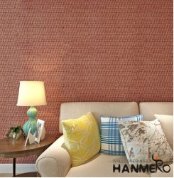 HANMERO Modern Woven Brown Peel and Stick Wall paper Removable Stickers,1.48ft x 32.8ft/roll,Home Decor