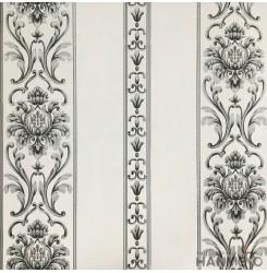 Hanmero Home Decoration Cream Floral With Stripe European Vinyl Embossed Wallpap...