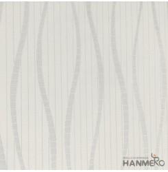 Hanmero Home Decoration Grey Geometric Curve Modern Vinyl Embossed Wallpaper 0.5...